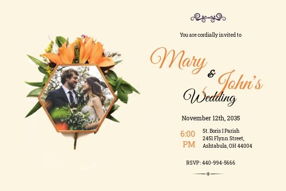 Elegant Overlay Wedding Invitation Template