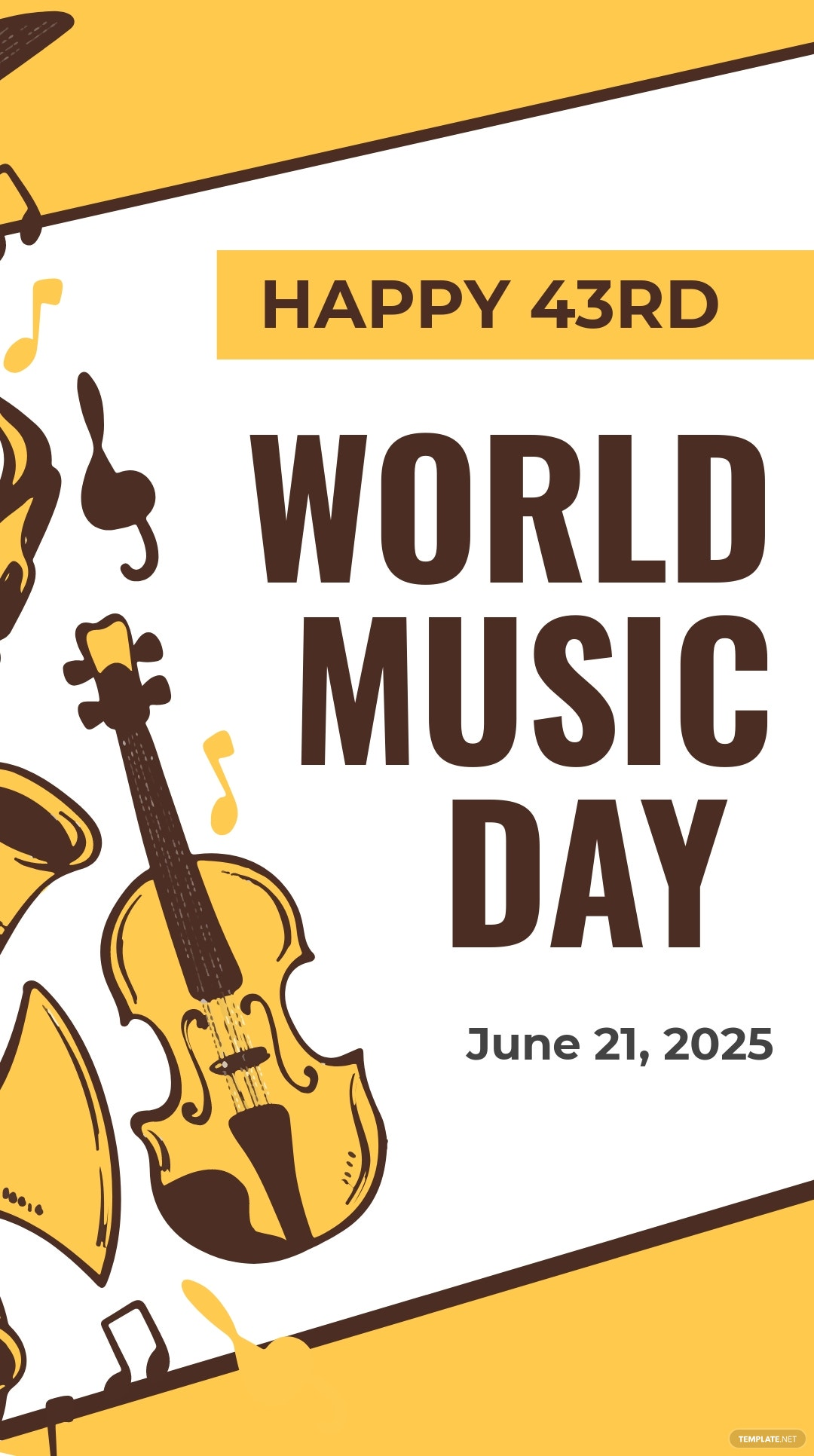Free World Music Day Instagram Story Template