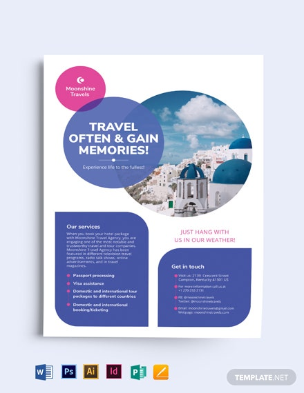 vacation flyer template