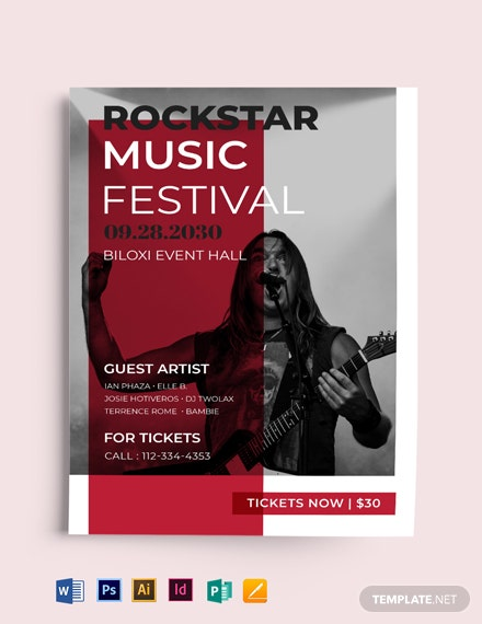 Free Music Concert Flyer Template