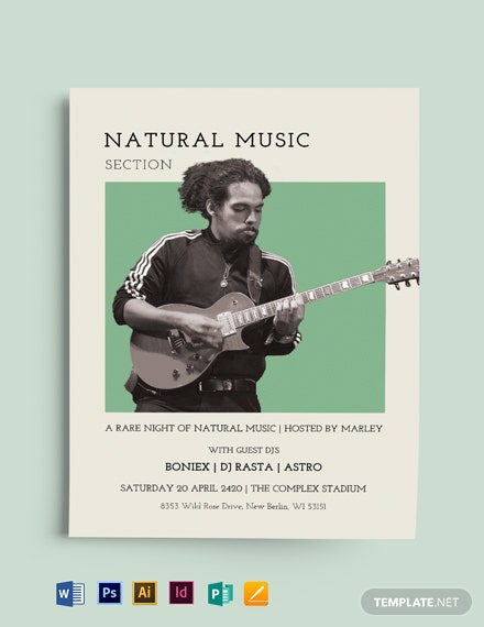 Natural Music Flyer Template