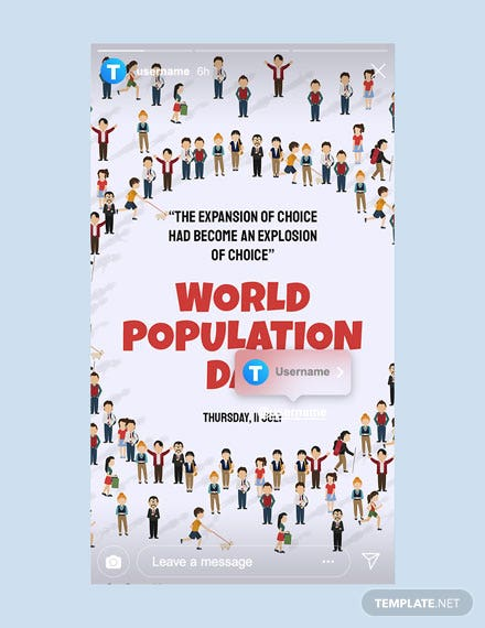 Free World Population Day Instagram Story Template