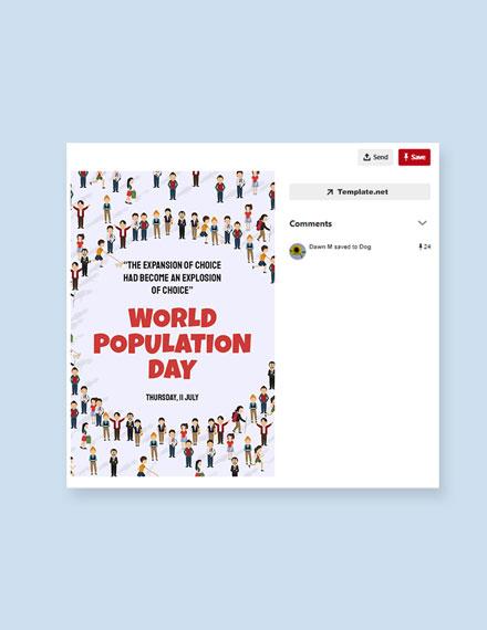 Free World Population Day Pinterest Pin Template