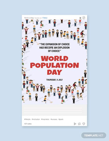 Free World Population Day Tumblr Post Template