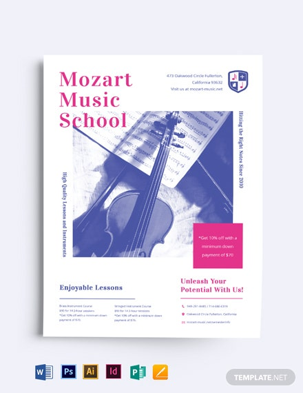 Music School Lesson Flyer Template