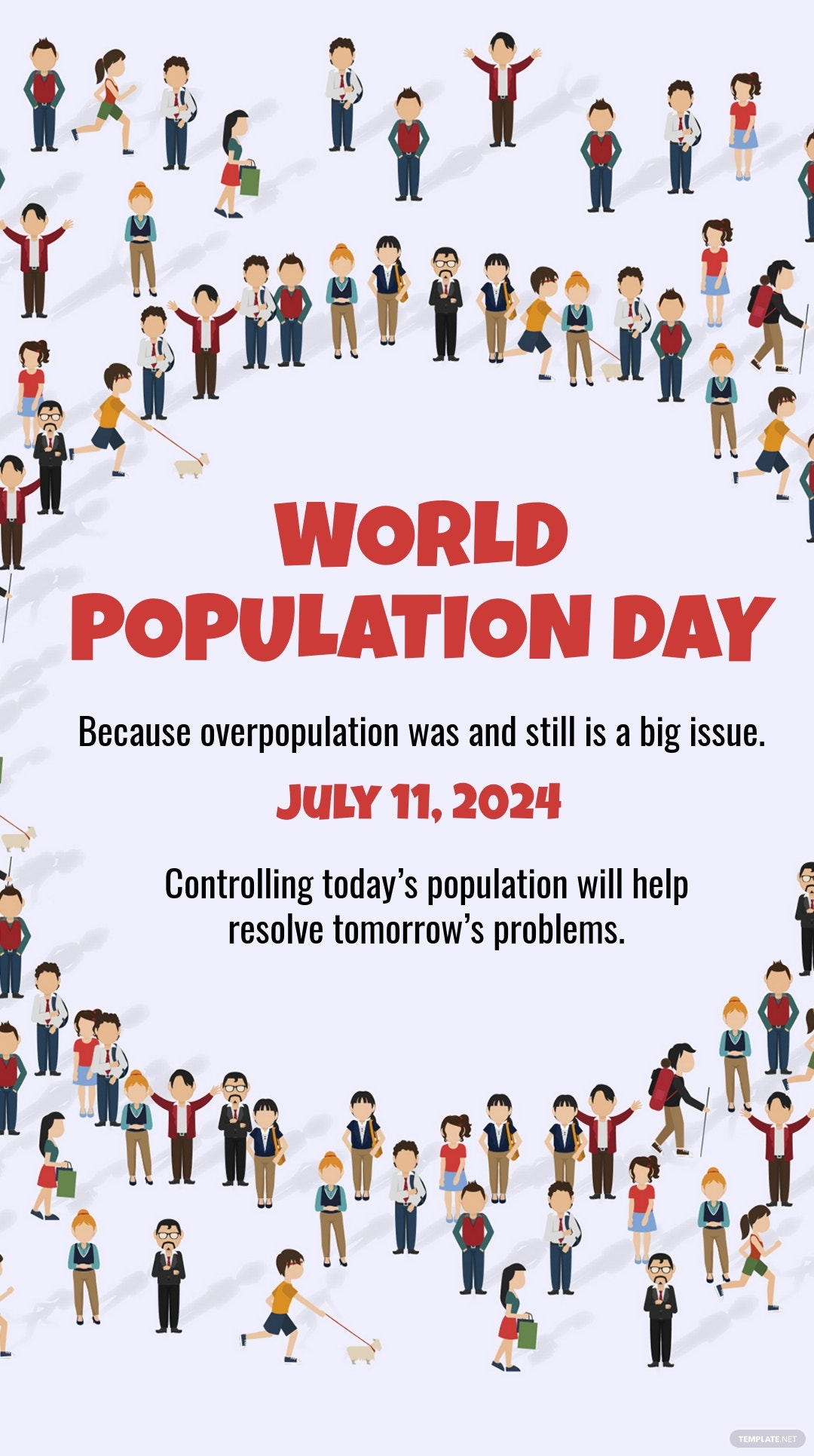 Free World Population Day Whatsapp Image Template.jpe