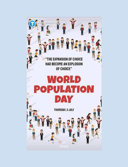 Free World Population Day Whatsapp Image Template
