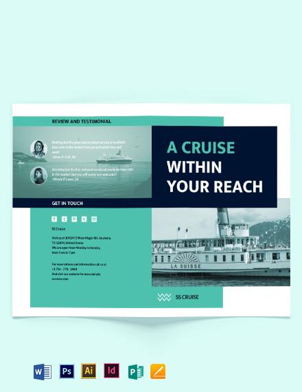 Cruise Bi-Fold Brochure Template