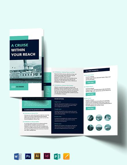Cruise Tri-Fold Brochure Template