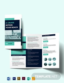 Cruise Tri-Fold Brochure Template