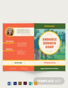 Summer Camp Bi-fold Brochure Template