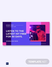 Music Studio App Promotion Blog Image Template
