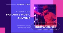 Free Music Studio App Promotion Facebook Post Template