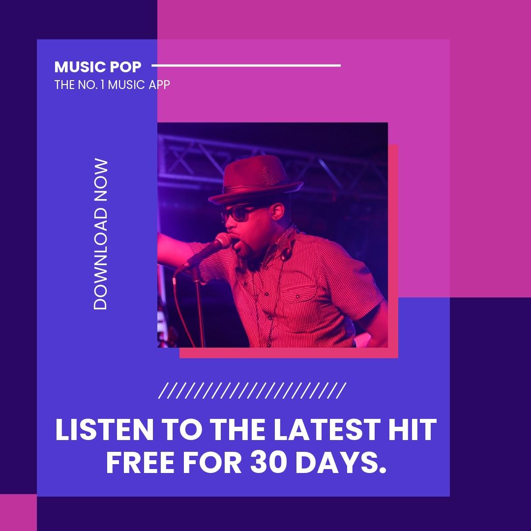 Music Studio App Promotion Instagram Post Template