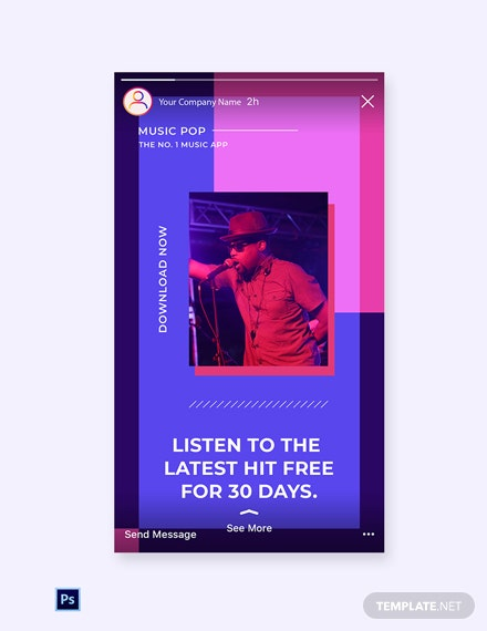 Free Music Studio App Promotion Instagram Story Template