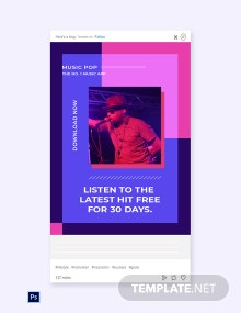 Free Music Studio App Promotion Tumblr Post Template