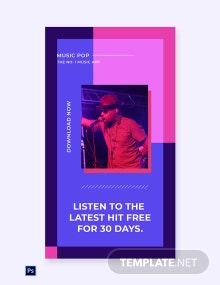 Free Music Studio App Promotion Whatsapp Image Template