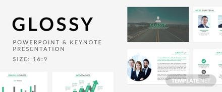 Free Glossy Business Presentation Template