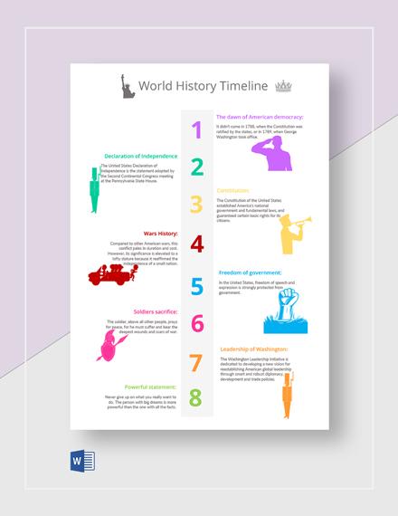 World History Timeline Template