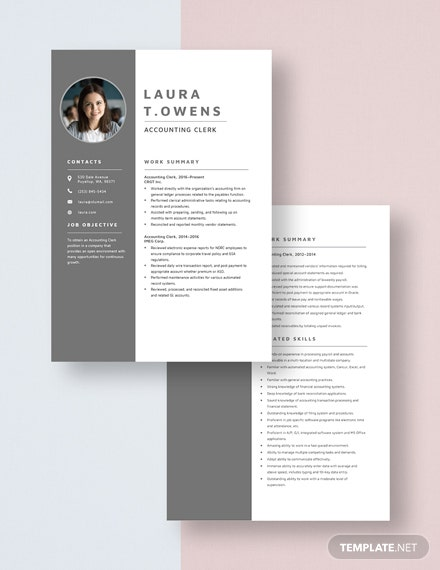 Accounting Clerk Resume Download