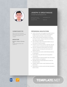 Accounting Representative Resume Template