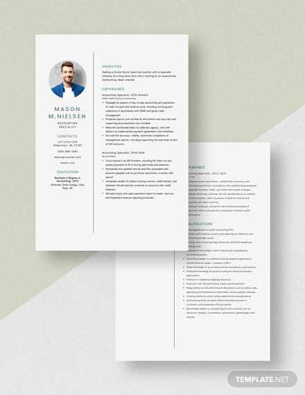 Accounting Specialist Resume Download