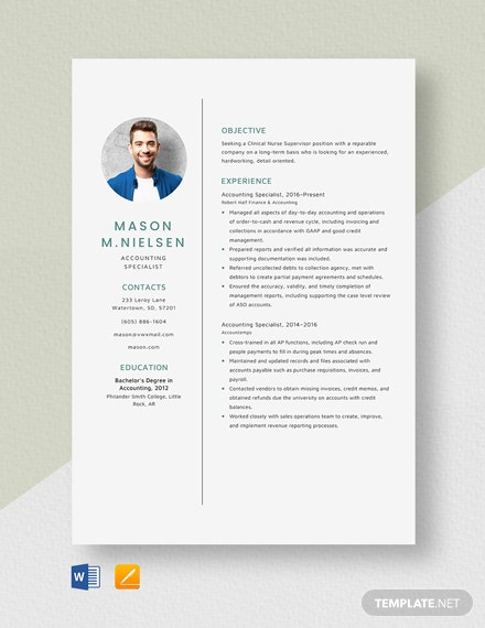 Download Specialist Resume Templates in Word | Apple Pages ...