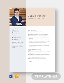 Accounting Support Resume Template