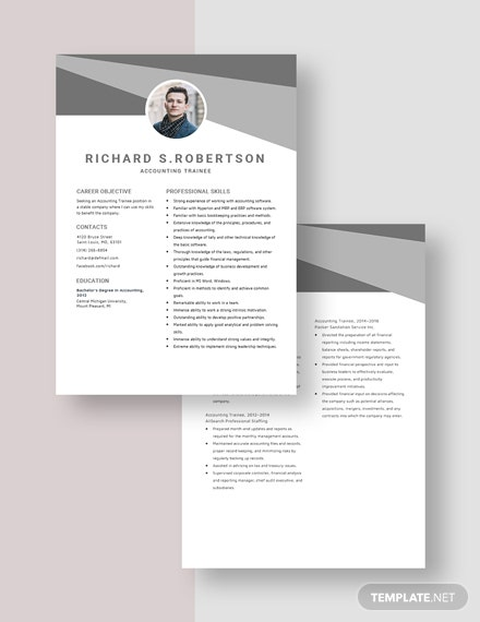 Accounting Trainee Resume Download