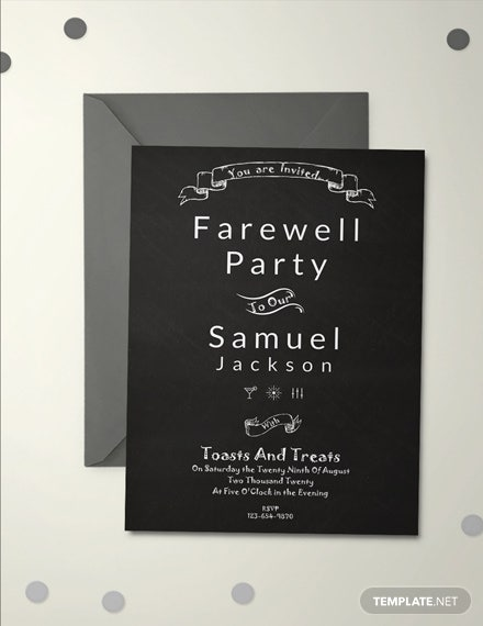 11 free invitation farewell templates download ready made
