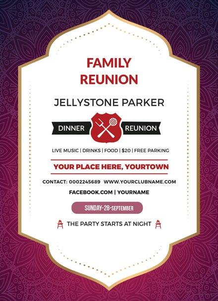 Class reunion invitation template inside invitations templates free free family dinner reunion invitation template stopboris Images