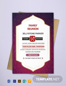 Free Family Dinner Reunion Invitation Template