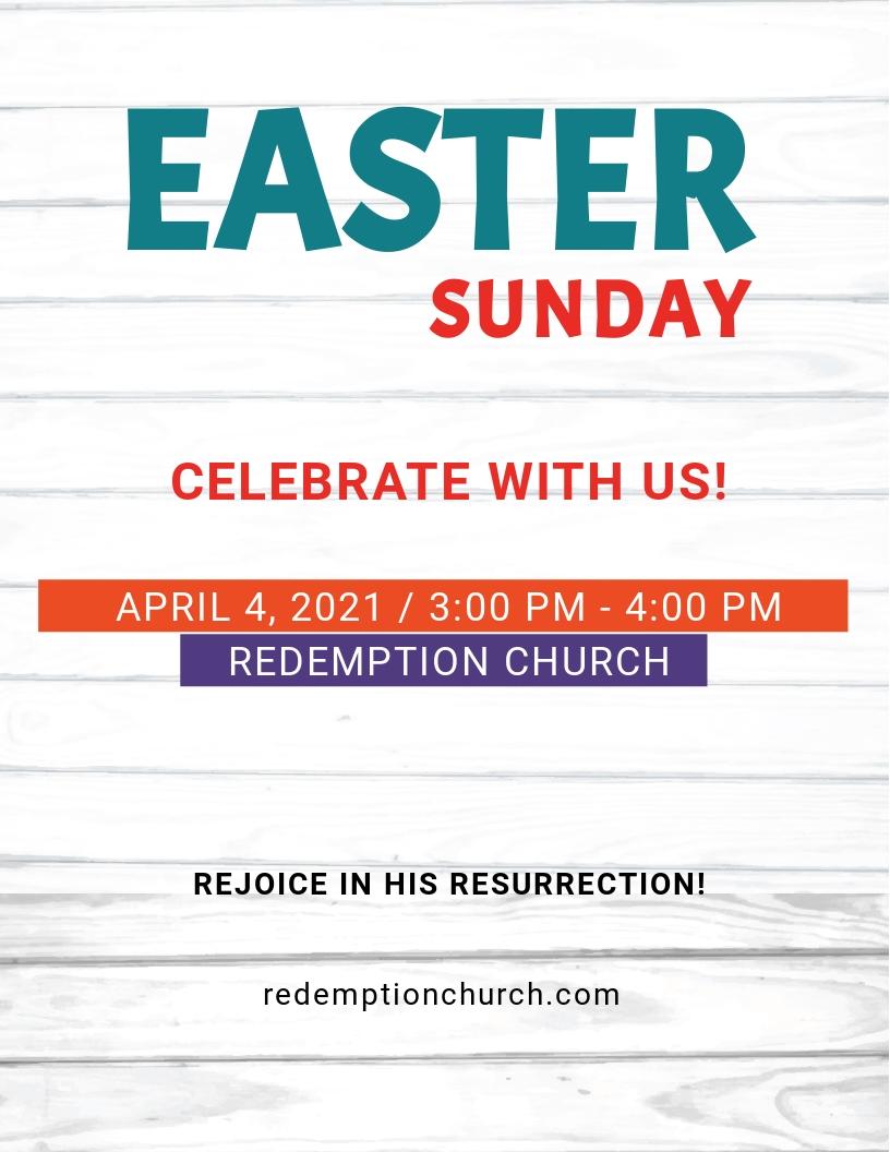 Easter Sunday Risen Flyer Template