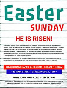 Free Easter Sunday Risen Flyer Template