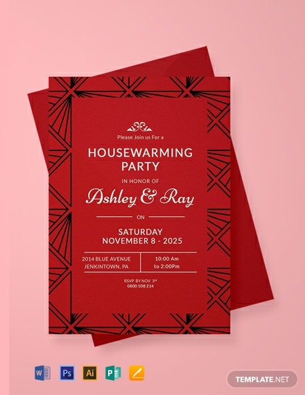 Free Housewarming Invitation Template Word Doc Psd