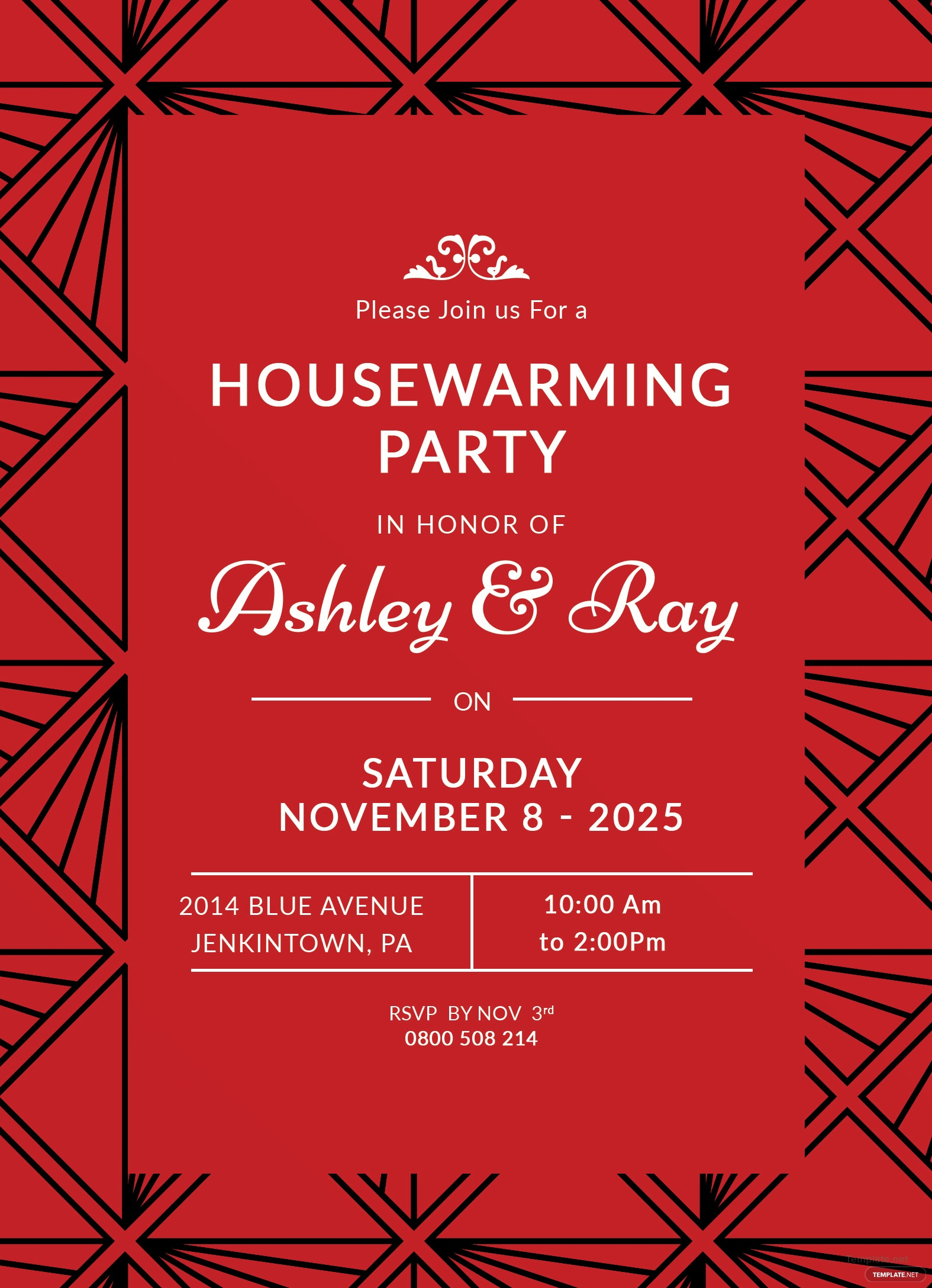 Free Housewarming Invitation Template in Adobe Photoshop