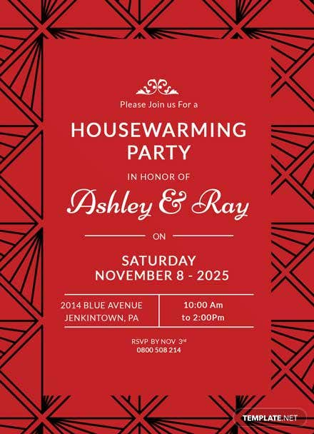 free housewarming invitation template  download 344