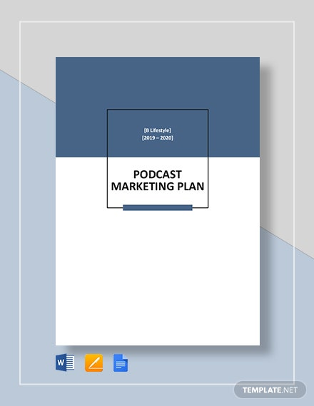 Podcast Marketing Plan Template