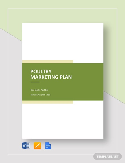 poultry marketing plan