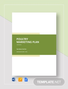 Poultry Marketing Plan Template