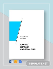 Roofing Company Marketing Plan Template