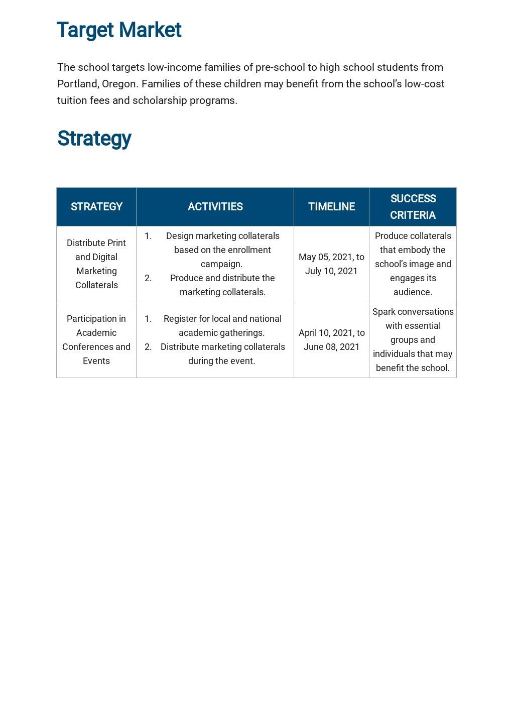 School Marketing Plan Template 2.jpe
