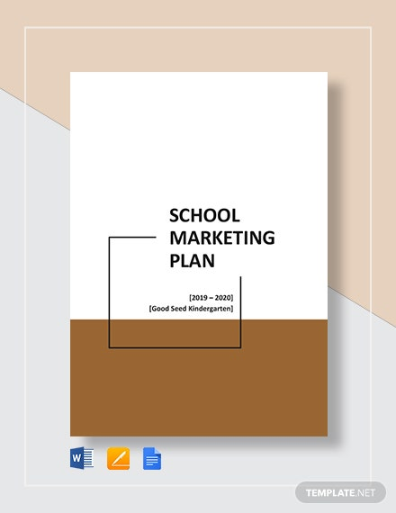School Marketing Plan Template