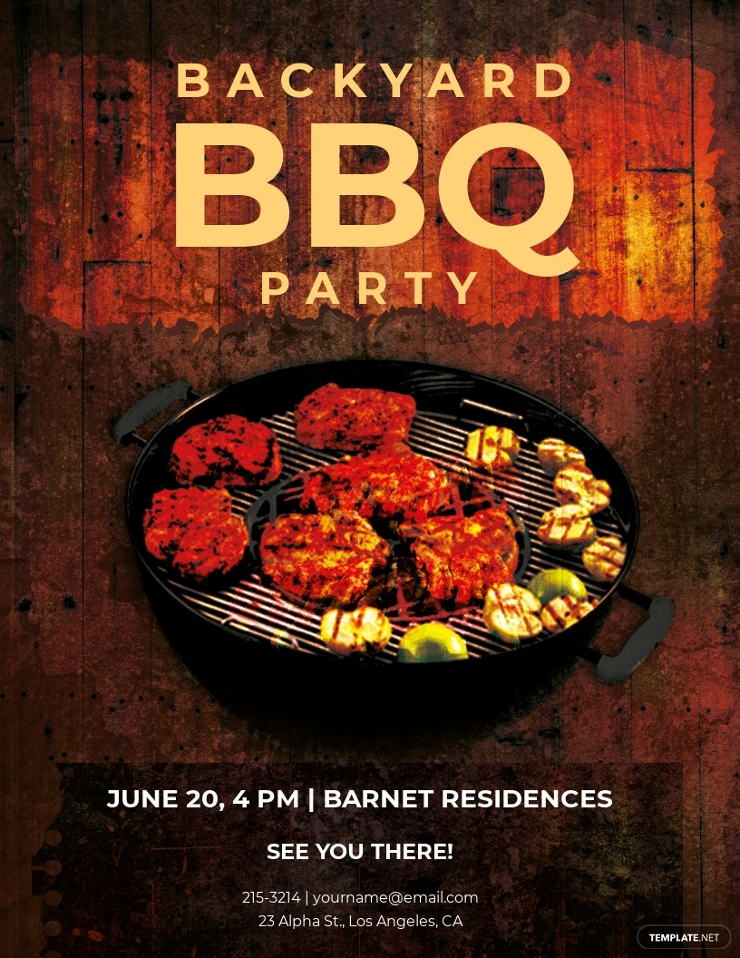 Free Premium Backyard BBQ Party Flyer Template