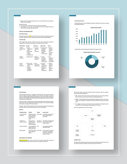 Sample Security Company Marketing Plan
