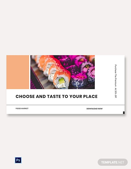 Free Editable Food App Promotion Blog Post Template