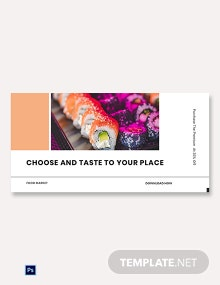 Free Editable Food App Promotion Blog Post Template