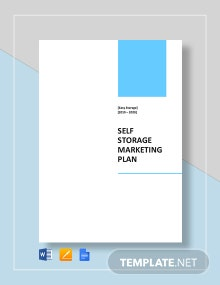 Self Storage Marketing Plan Template