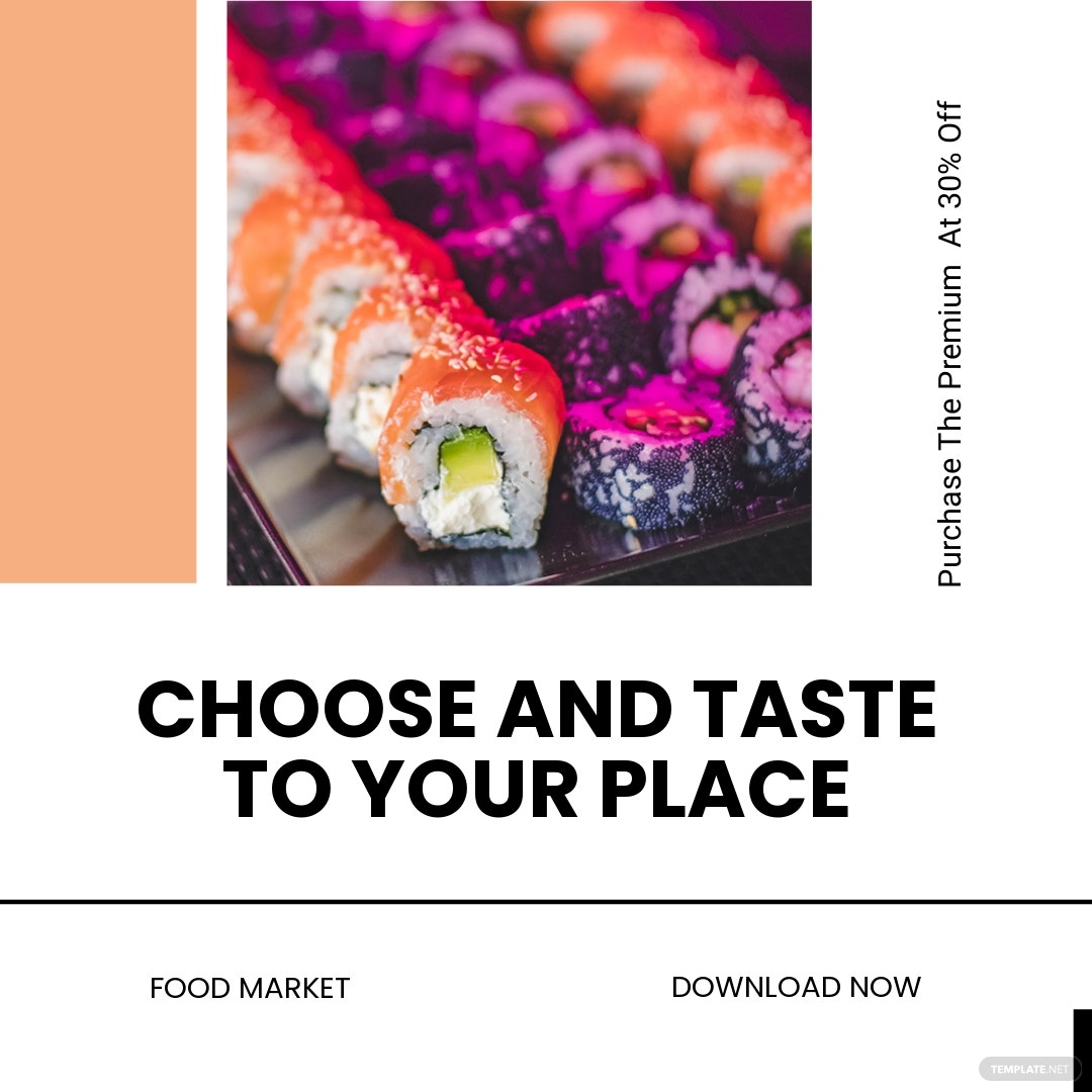 Free Editable Food App Promotion Instagram Post Template