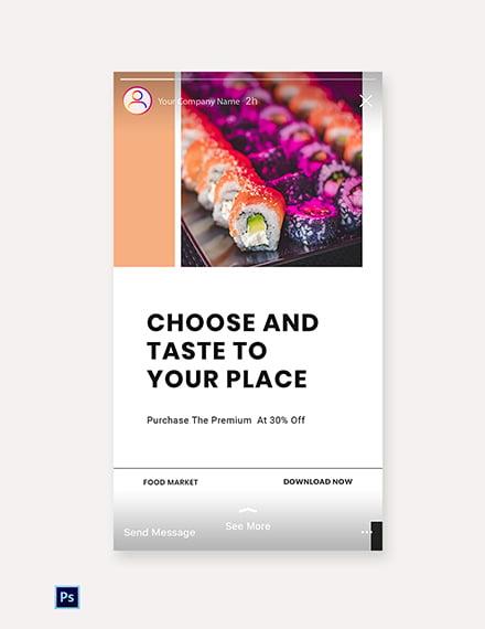 Free Editable Food App Promotion Instagram Story Template